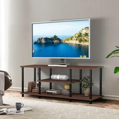 3-Tier Stand Media Console for Brown