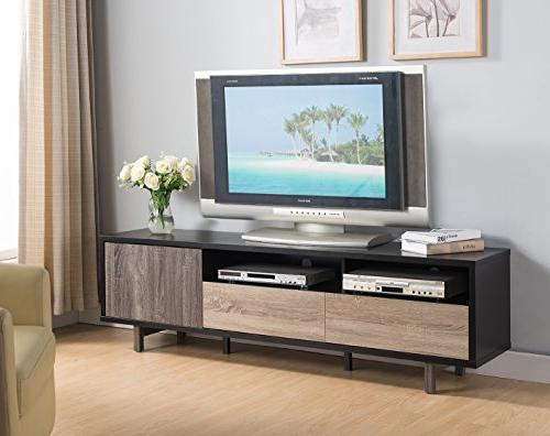 3 toned tv stand center