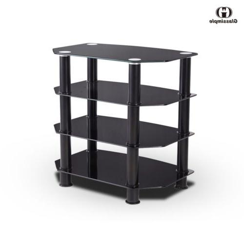 4 Shelves TV Stand Entertainment Media Center Storage Hi-Fi