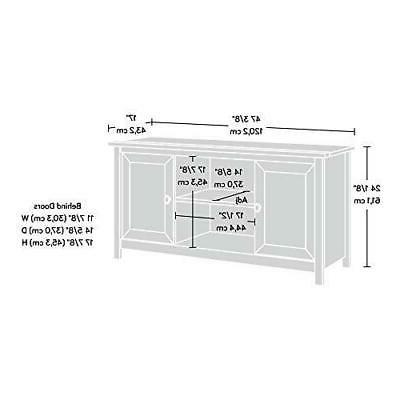 Sauder 417772 Panel Tv For TV's Salt Oak finish