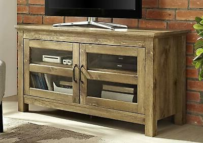 44 wood tv media stand storage console