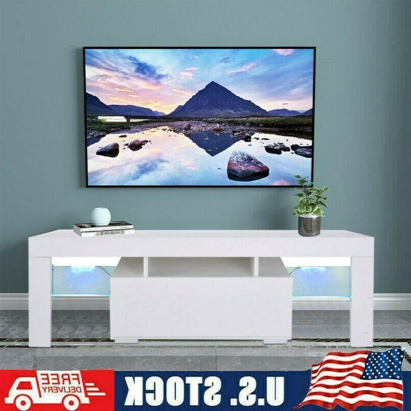51 wood high gloss led tv stand