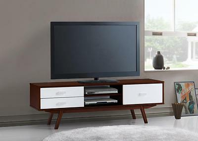 54.75'' Modern Entertainment Center TV Stand w/2 Drawers & 1