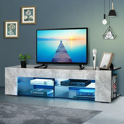 57 tv stand cabinet w led light