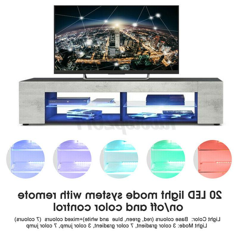 57'' TV Cabinet /LED Light Shelves for 70''