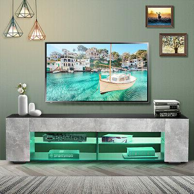 57'' TV Cabinet Center /LED Light Shelves 70'' TV