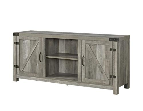 58 inch wide barn door television stand