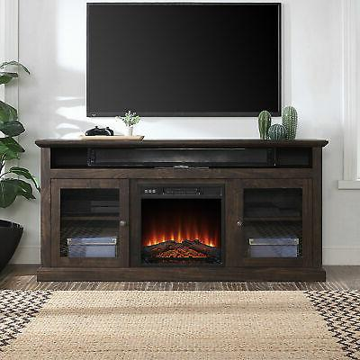 60 tv stand console with shelves