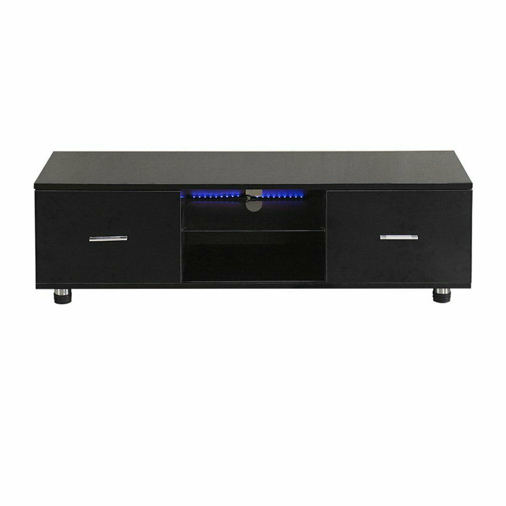 "63"" Wood High LED Stand Entertainment Furniture Center Cabinet"