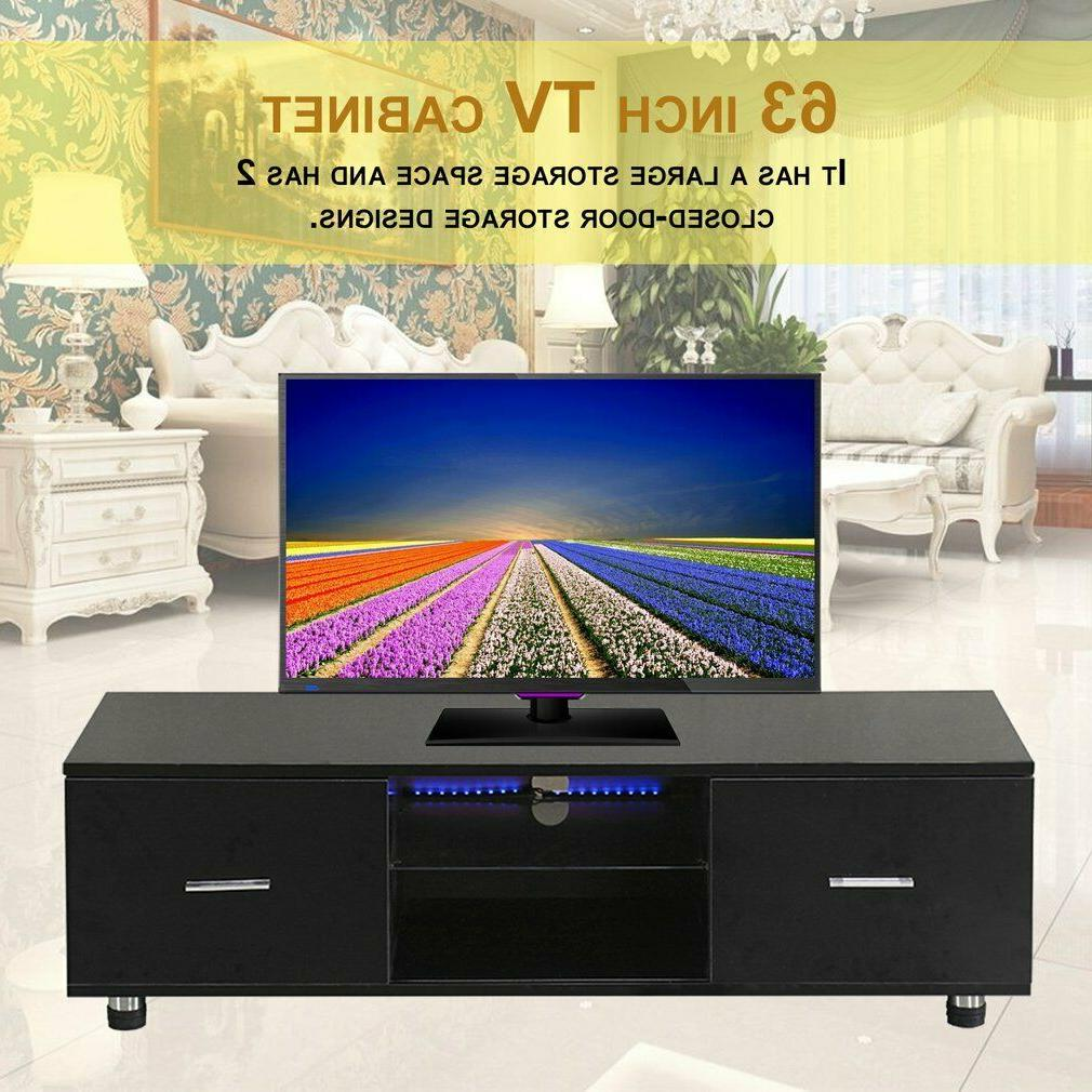 "63"" Wood LED TV Stand Furniture Center"