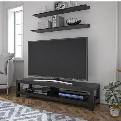 65 Inch Stand Shelf Entertainment Surface Oak