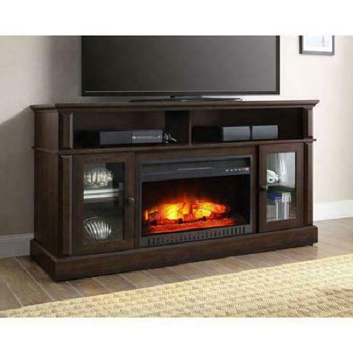70 Inch With Fireplace Media Electric Entertainment Center
