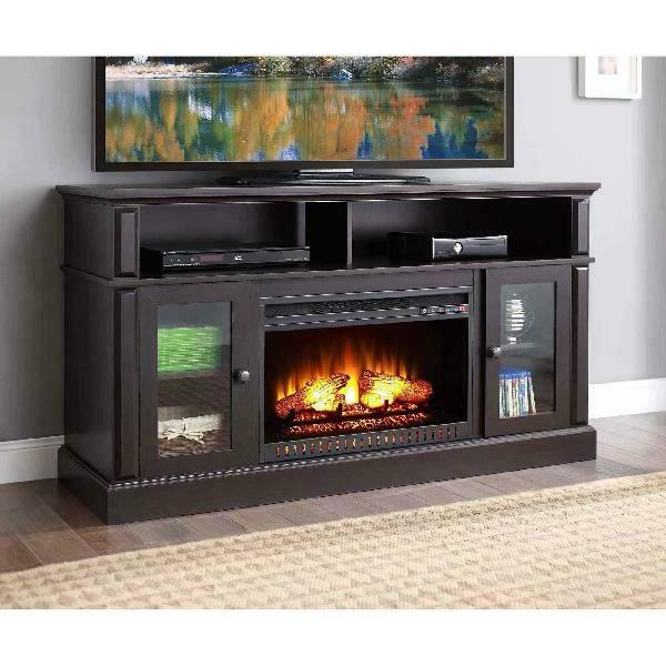 70 inch tv stand with fireplace media