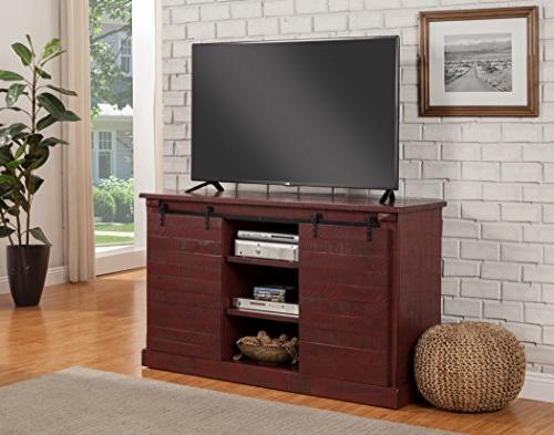 Martin Camden TV Stand, True Red