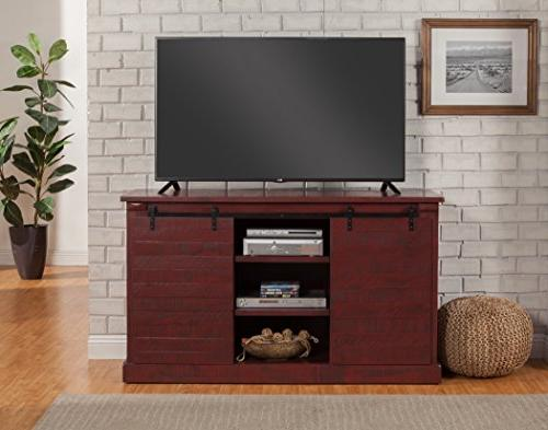 "Martin Svensson 90935 Camden Bridge 60"" Stand, Red"