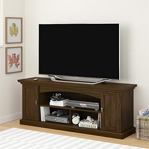 Altra Portland Pier TV Stand for TVs Wide, Brown