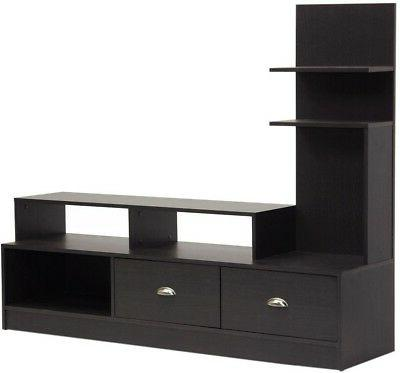 Baxton Studio Armstrong Modern TV Stand with Built-In Vertic