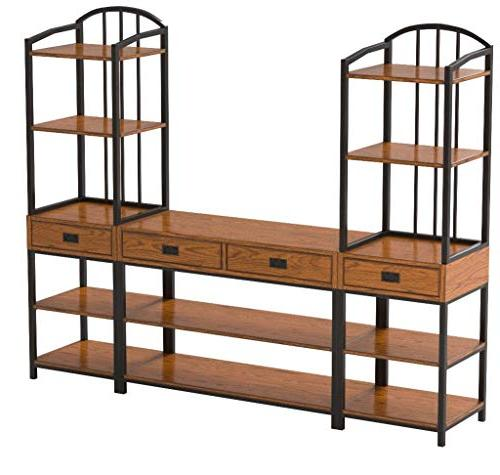 Home Styles 5050-34 Craftsman Entertainment Center,