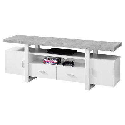 Monarch Specialties 60 in. TV Stand with Enclosed Storage