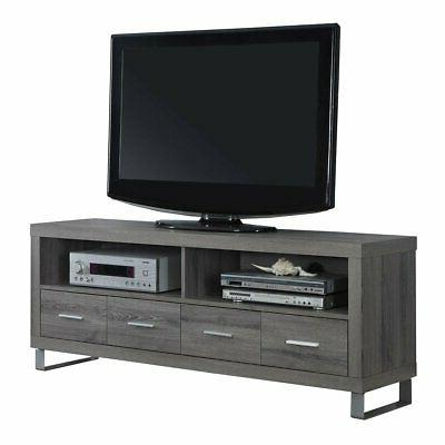 Monarch Specialties I 2517, TV Console with 4 Drawers, Dark
