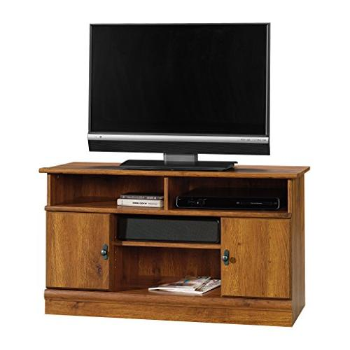 Sauder Harvest Panel Stand, TV's to Abbey Oak