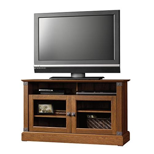 "Sauder Carson Panel Stand, TV's up 47"", Washington Cherry finish"