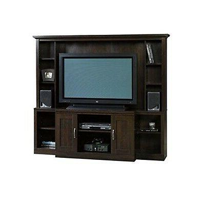 Sauder Cinnamon Cherry Entertainment Center for TVs up to 47