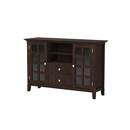 Simpli Home Acadian Solid Tall Brown For TVs 58 inches