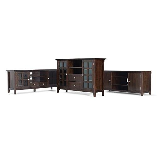 Simpli Solid Tall Brown TVs 58 inches