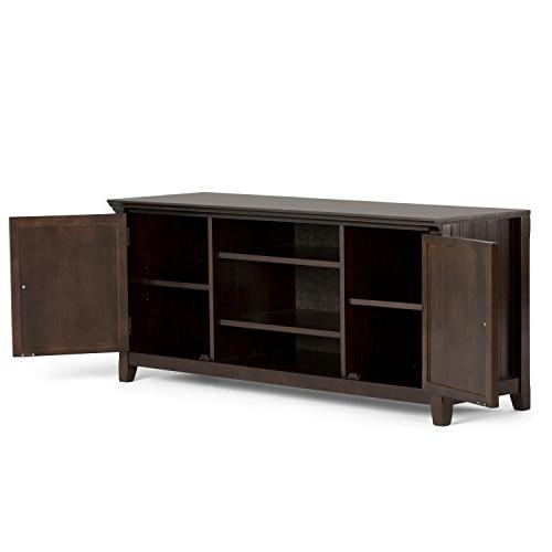 Simpli Home AXWELL3-005 Solid TV Media Stand in Brown inches
