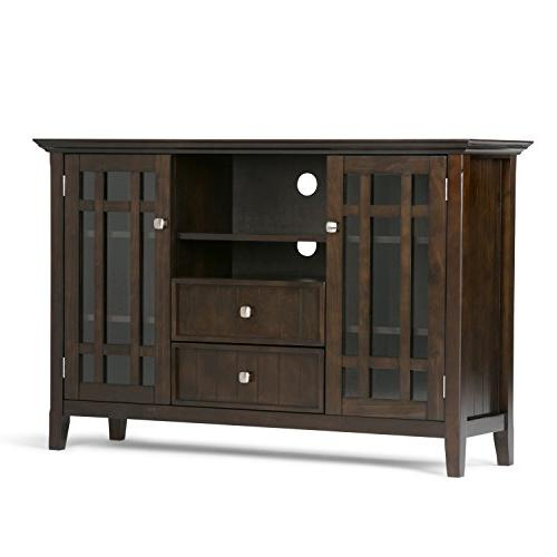 Simpli Home Bedford Solid Wood TV Media Stand for TVs up to