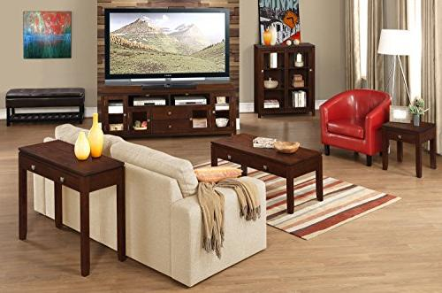 Simpli Home INT-AXCCOS-TV-CF Cosmopolitan Solid Wood For TVs inches