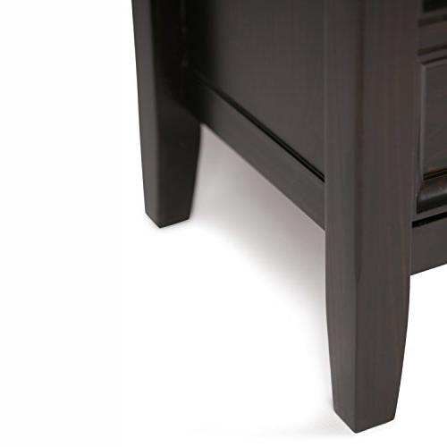 Simpli Home INT-AXCAMH-TV-DAB Amherst Solid Media Stand in Dark Brown TVs 60 inches