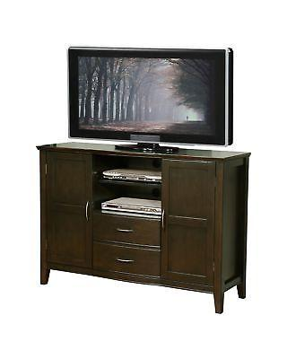 Simpli Home Williamsburg Tall TV Media Stand for TVs up to 6