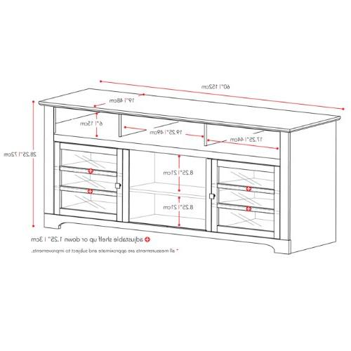 Sonax West TV Component Media Storage Unit in Mocha Black, for TV Up To