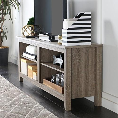 """WE Furniture 58"""" TV Stand Driftwood"""
