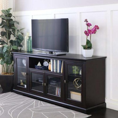 WE Highboy Style Wood TV Console,
