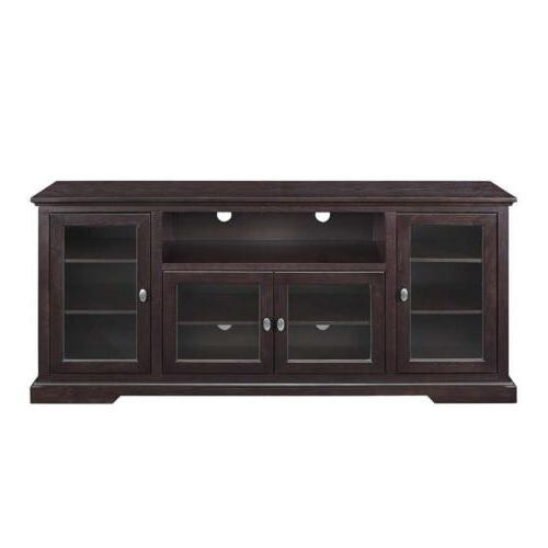 WE Furniture Style Wood TV Console, Espresso