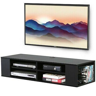 Wall Media Shelf Black For CD Player Xbox one Book Floating