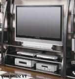 Artemis 60 TV Stand in Black and Silver Finish by Coaster Fu