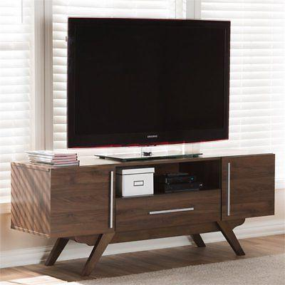 Baxton Studio Ashfield TV in Brown