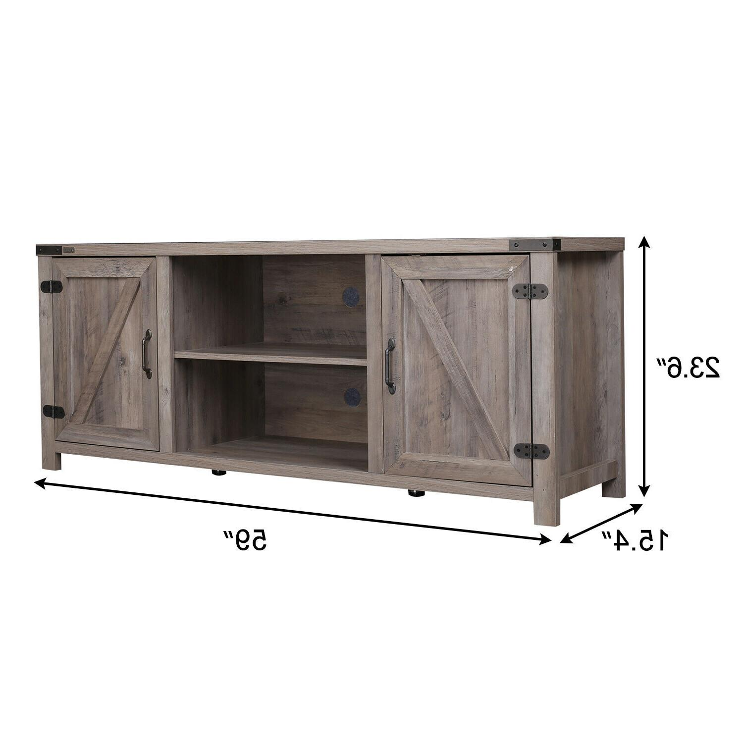 Barn Door Stand Media Console Farmhouse TV