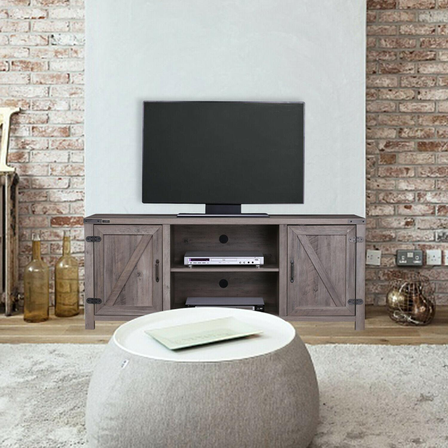 Barn Door TV Media Console Entertainment Farmhouse