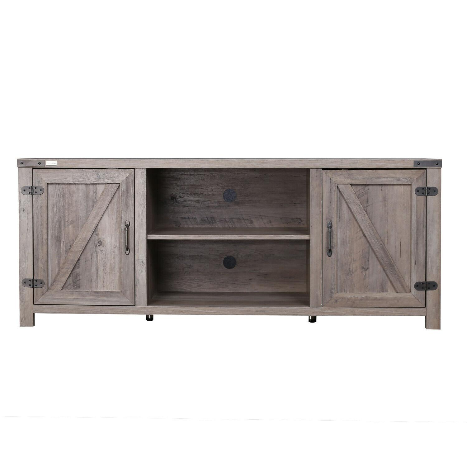 Barn Media Console Entertainment Center Farmhouse Wood TV