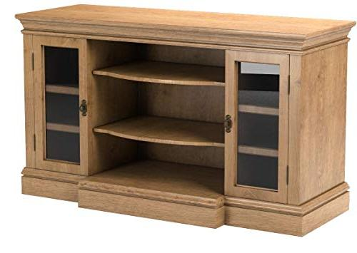 Sauder Barrister Entertainment/Fireplace for up to Oak Finish