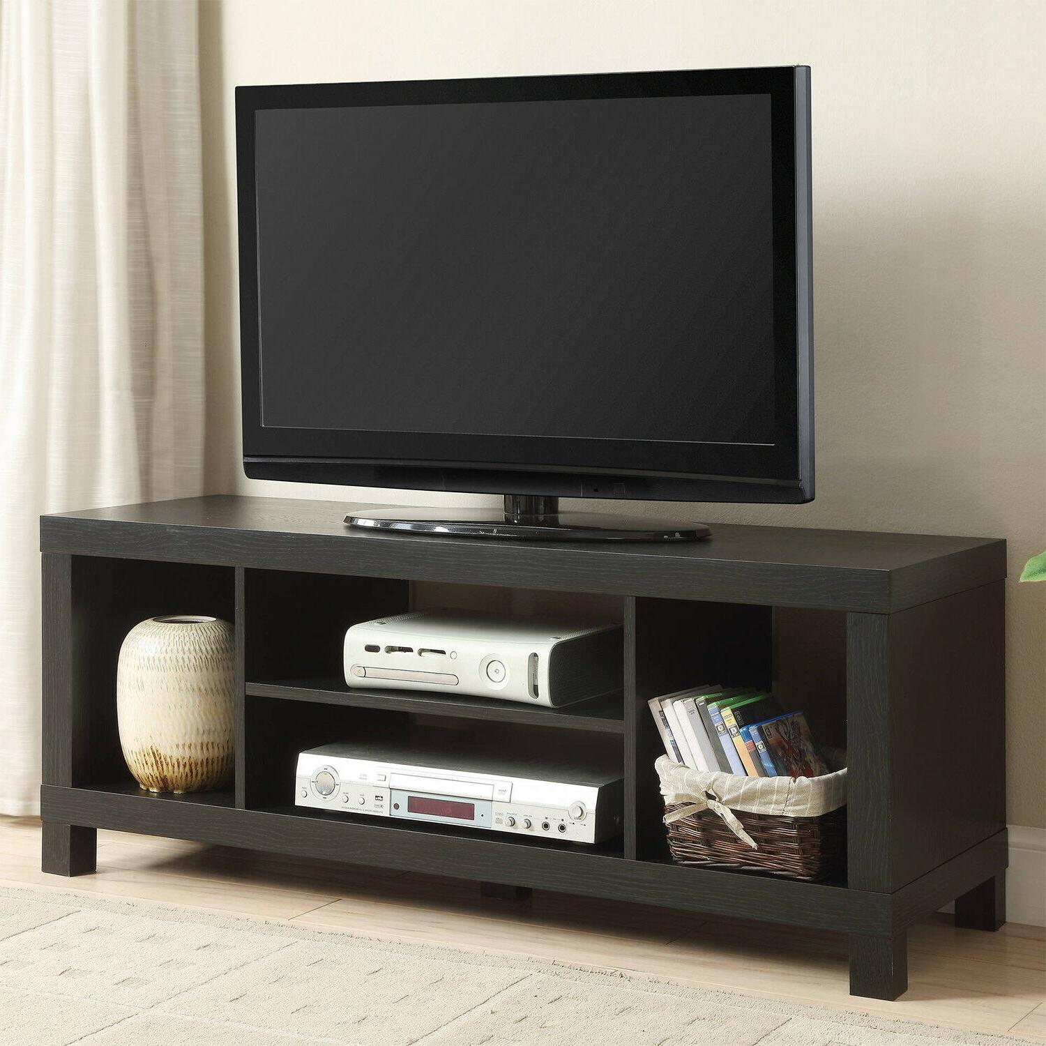 "Black 45"" Wood TV Stand Entertainment Center Media Console S"