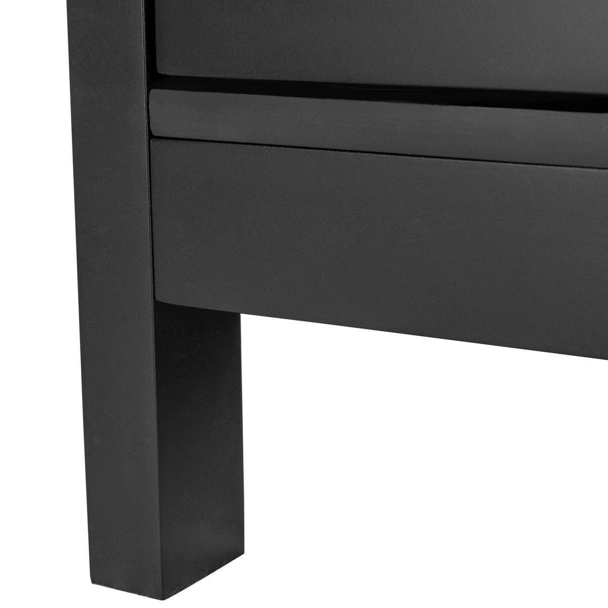 "Black 50"" Wood Entertainment Media Center"