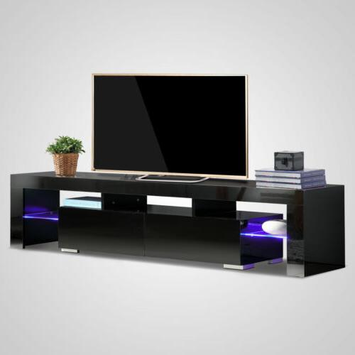 """63"""" Gloss LED TV Stand Cabinet Drawer"""