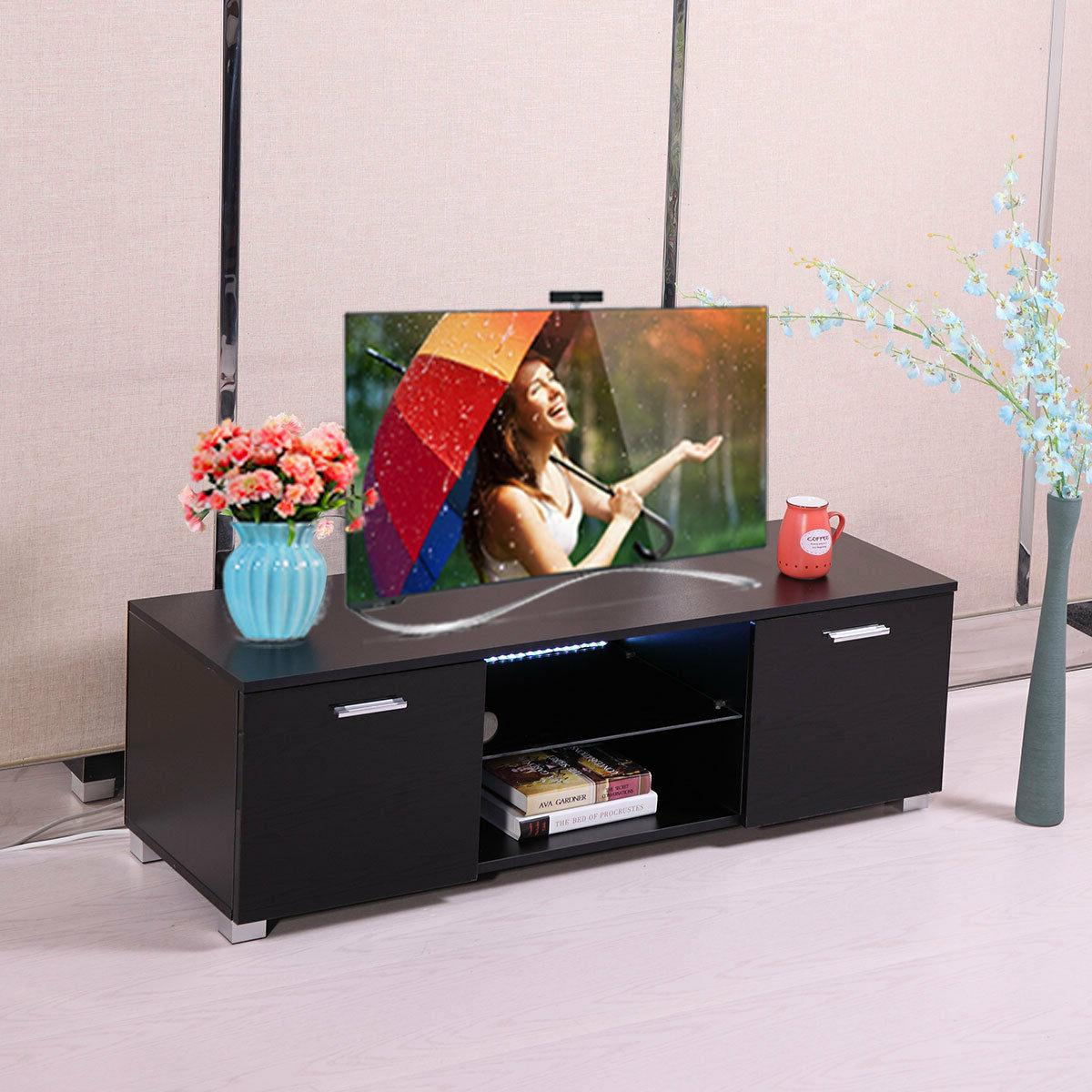 Black Console High GlossTV Stand