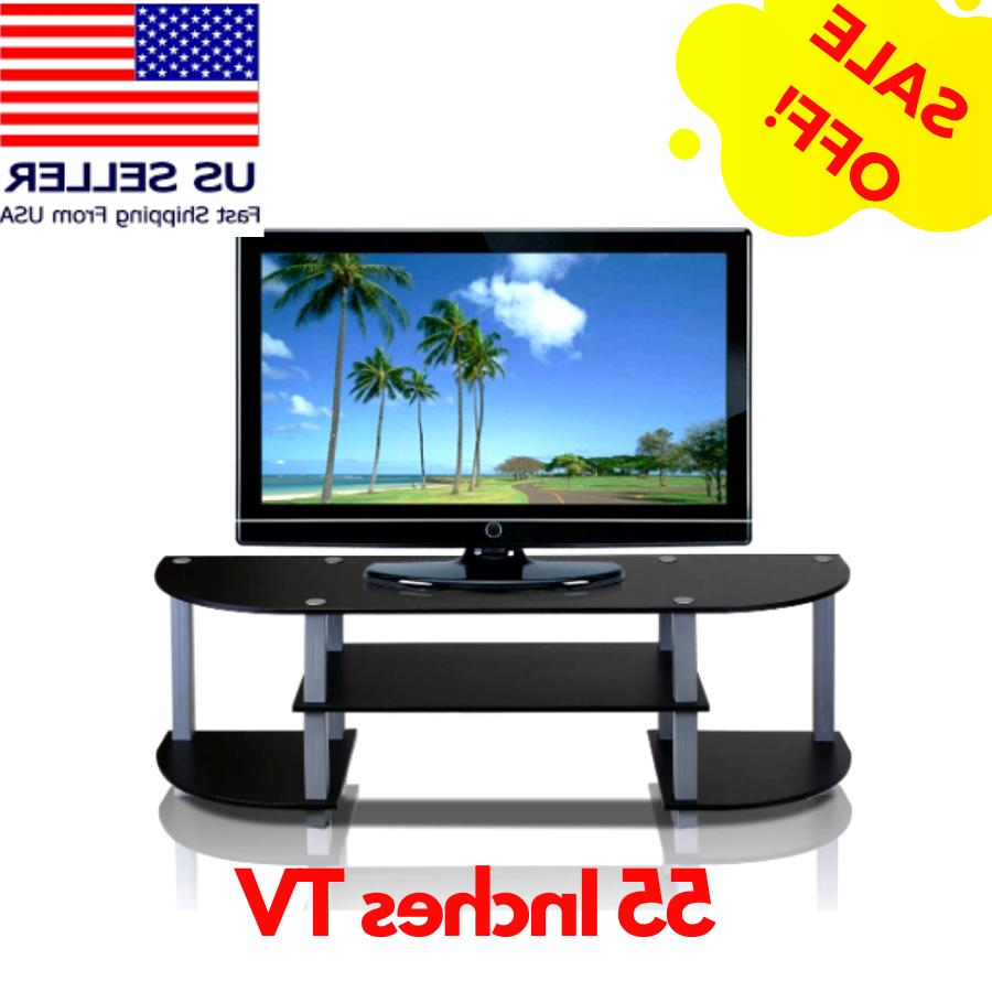 black tv stand for 55 inch flat